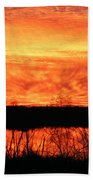 Flamed Sunset Beach Towel