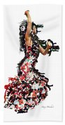Flamenco Series #12 Beach Towel