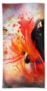 Flamencoscape 07 Beach Towel
