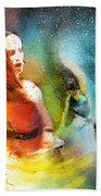 Flamencoscape 08 Beach Towel