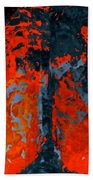 Flames And Grey Beach Towel