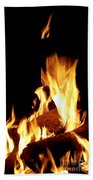 Flames In The Dark Beach Towel