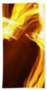 Flames Beach Towel