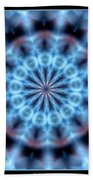 Flames Kaleidoscope 4 Beach Towel