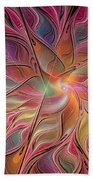 Flames Of Happiness Beach Towel