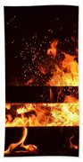 Flaming Darkness Beach Towel