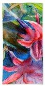 Flaming Fuchsias Beach Towel