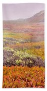 Flaming Ice Beach Towel