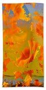 Flaming Indian Girl Sunset Beach Towel