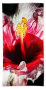 Flaming Petals Beach Towel