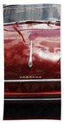 Flaming Red Porsche Beach Sheet