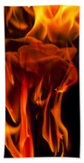 Flaming Rose Beach Towel