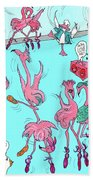 Flamingo A Go Go Beach Towel