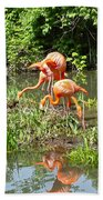 Flamingo Island Beach Towel
