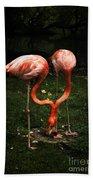 Flamingo Mirrored Beach Towel