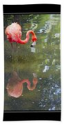 Flamingo Reflected Beach Towel