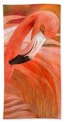 Flamingo - Spirit Of Balance Beach Towel