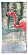 Flamingo Time Beach Towel