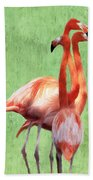 Flamingo Twist Beach Towel by Jeff Kolker