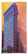 Flatiron Building At Sunset Beach Towel