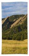 Flatiron Morning Light Boulder Colorado Beach Towel