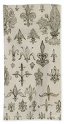 Fleur De Lys Designs From Every Age And From All Around The World Beach Towel
