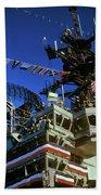 Flight Deck Of The Uss Kennedy Aircraft Beach Towel
