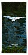 Flight Of The Egret Beach Towel