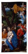 Flight To Egypt With Angels Beach Towel