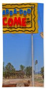 Flinstones Bedrock City In Arizona Beach Towel