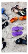 Flip Flops On The Beach Beach Towel