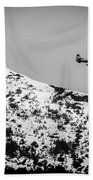 Float Plane Over The Mountain Beach Towel