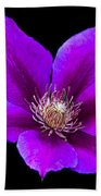 Floating Clematis Beach Towel