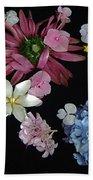 Floating Flowers Beach Towel