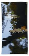 Floating Leaves Beach Towel