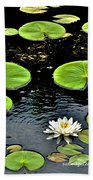 Floating Lily Beach Towel