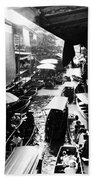 Floating Markets In Black And White Beach Towel
