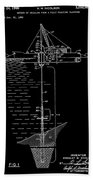 Floating Oil Rig Patent Beach Towel