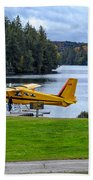 Floatplane In Fall Beach Towel