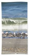 Flock And Wave Beach Towel