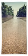 Flooded Road Beach Towel