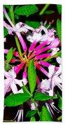 Flora In Pink Beach Towel