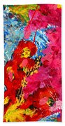 Floral Abstract Part 1 Beach Towel