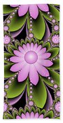 Floral Decorations Beach Towel