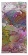 Floral Fantasy - Square Version Beach Towel