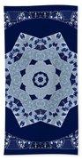 Floral Flow Blues Beach Towel