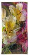 Floral Inspiration - Square Version Beach Towel
