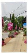 Floral Lining Beach Towel by Caryl J Bohn