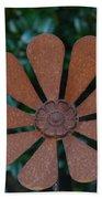 Floral Metal Art Beach Towel