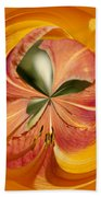 Floral Orange Orb Beach Towel